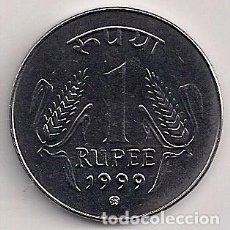 Monedas antiguas de Asia: INDIA - 1 RUPIAS 1999 - Y#92.2. Lote 82913776