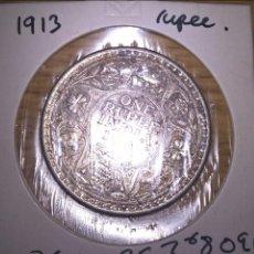 Monete antiche di Asia: INDIA BRITÁNICA. RUPIA DE PLATA DE 1913. Lote 111483666