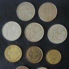 Monedas antiguas de Asia: LOTE DE 14 MONEDAS DE TURQUIA. Lote 86574720