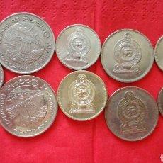 Monedas antiguas de Asia: LOTE DE 9 MONEDAS DE SRI LANKA. Lote 96038368