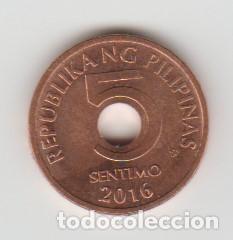 166 Moneda Filipinas 5 Cent 2016 Comprar Monedas Antiguas De