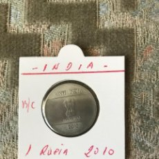 Monedas antiguas de Asia: INDIA 1 RUPIA 2010 BC KM 331. Lote 91538470