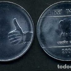 Monedas antiguas de Asia: INDIA 1 RUPIA AÑO 2009 ( LEON ATROPOFORFO ) Nº2. Lote 92214460