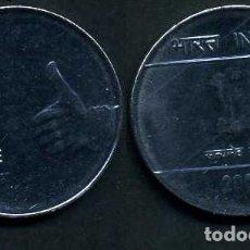 Monedas antiguas de Asia: INDIA 1 RUPIA AÑO 2009 ( LEON ATROPOFORFO ) Nº3. Lote 114492915
