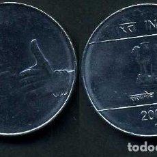 Monedas antiguas de Asia: INDIA 1 RUPIA AÑO 2009 ( LEON ATROPOFORFO ) Nº4. Lote 92214635