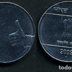 Monedas antiguas de Asia: INDIA 1 RUPIA AÑO 2009 ( LEON ATROPOFORFO ) Nº6. Lote 92214865