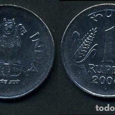 Monedas antiguas de Asia: INDIA 1 RUPIA AÑO 2004 ( LEONES ANTROPOMORFOS ) Nº1. Lote 93633015