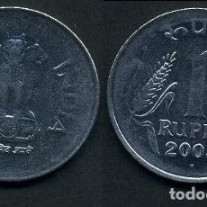 Monedas antiguas de Asia: REPUBLICA INDIA 1 RUPIA AÑO 2003 ( LEONES ANTROPOMORFOS ) Nº2. Lote 93633545