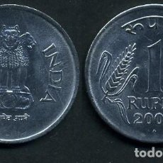 Monedas antiguas de Asia: REPUBLICA INDIA 1 RUPIA AÑO 2003 ( LEONES ANTROPOMORFOS ) Nº3. Lote 93633565