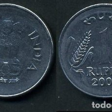 Monedas antiguas de Asia: REPUBLICA INDIA 1 RUPIA AÑO 2003 ( LEONES ANTROPOMORFOS ) Nº4. Lote 93633575