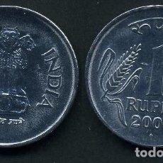 Monedas antiguas de Asia: REPUBLICA INDIA 1 RUPIA AÑO 2003 ( LEONES ANTROPOMORFOS ) Nº5. Lote 93633585