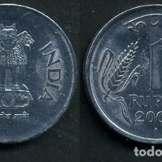 Monedas antiguas de Asia: REPUBLICA INDIA 1 RUPIA AÑO 2003 ( LEONES ANTROPOMORFOS ) Nº7. Lote 111400782