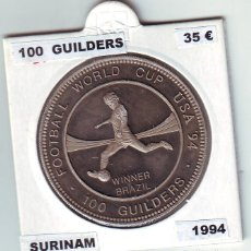 Monedas antiguas de Asia: SURINAN 100 GILDERS 1994 PLATA. Lote 93867930