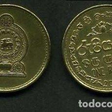 Monedas antiguas de Asia: SRI LANKA - CEILON - 1 RUPIA AÑO 2006. Lote 95784375