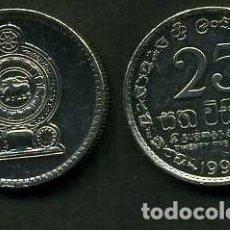 Monedas antiguas de Asia: SRI LANKA - CEILON - 25 CENT AÑO 1996. Lote 95785355