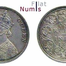 Monedas antiguas de Asia: INDIA - BRITANICA - 1 RUPIA - 1862 - PLATA - SIN CIRCULAR. Lote 96922899