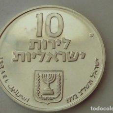 Monedas antiguas de Asia: MONEDA DE PLATA D 10 LIROT DE ISRAEL DE 1972, CONMEMORATIVA 24 AÑOS DE REPUBLICA, PESA 26,1 GRS, S/C. Lote 97248207