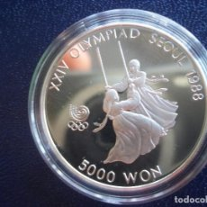 Monedas antiguas de Asia: 5000 WON KOREA DEL SUR 1987 PLATA PROOF. Lote 97416351