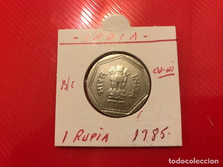 INDIA 1 RUPIA 1985 BC KM 79.1 (Numismática - Extranjeras - Asia)
