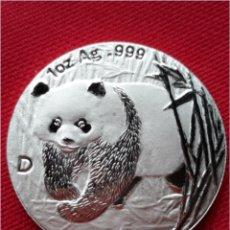 Monedas antiguas de Asia: MONEDA DE CHINA 1 OZ PLATA PURA 2002. Lote 100573695