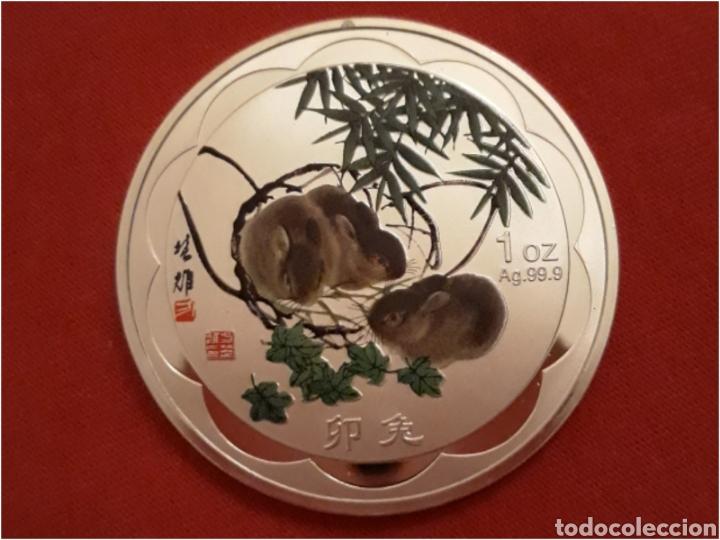 MONEDA ZODIACO CHINO EL CONEJO (Numismática - Extranjeras - Asia)