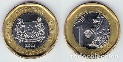 Singapur 1 Dollar 2013 Km 314 Calidad Ebc Comprar Monedas