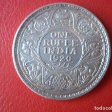 Monedas antiguas de Asia: ONE RUPEE INDIA 1920 PLATA. Lote 104058771