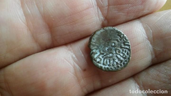 Monedas antiguas de Asia: ANTIGUO LINGOTE MONEDA MEDIEVAL PLATA DE LA INDIA - Foto 4 - 104346963