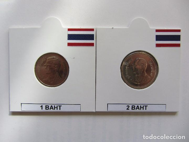 TAILANDIA. LOTE 1 BAHT Y 2 BAHT. (Numismática - Extranjeras - Asia)
