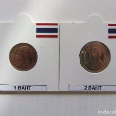 Monedas antiguas de Asia: TAILANDIA. LOTE 1 BAHT Y 2 BAHT.. Lote 104586283