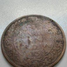 Monedas antiguas de Asia: ONE QUARTER ANNA INDIA 1938. Lote 105587818