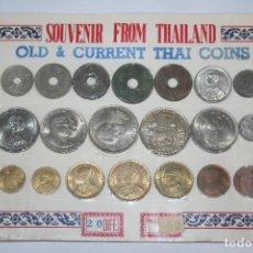 Monedas antiguas de Asia: COLECCIÓN DE 20 MONEDAS DIFERENTES DE TAILANDIA (ANTIGUAS Y NUEVAS). Lote 108033411