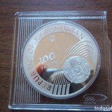 Monedas antiguas de Asia: 100 TENGE KAZAKHSTAN 2007 PLATA 31,1 GR S/C OLYMPIC GAMES . Lote 109987863