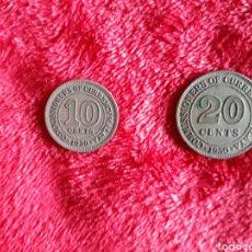 Monedas antiguas de Asia: 1950 MALAYA BRITÁNICA, JORGE VI, 10 Y 20 CÉNTIMOS / MALASIA, KING GEORGE THE SIXTH. Lote 110889504