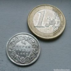 Monedas antiguas de Asia: MONEDA DE PLATA DE 1/4 DE RUPIA DE LA INDIA BRITANICA DE LA REINA VICTORIA AÑO 1862. Lote 111494843