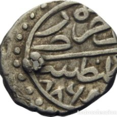 Monedas antiguas de Asia: IMPERIO OTOMANO! BAYEZID II., 886-918 AH! AÑO 886 AH! AKCE! PLATA! 1GR MBC+/MBC CONSTANTINOPLA. Lote 114493790
