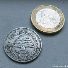 Monedas antiguas de Asia: MONEDA DE PLATA DE 50 PIASTRAS DEL LIBANO AÑO 1952 MBC. Lote 113278879