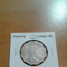 Monedas antiguas de Asia: HONG KONG 2 DÓLARES 1981 SC KM37. Lote 114417114