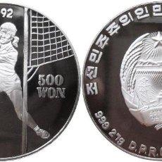 Monedas antiguas de Asia: COREA DEL SUR 500 WON PLATA 1991 VOLEIBOL OLIMPIADAS BARCELONA 1992 PROOF. Lote 114682359