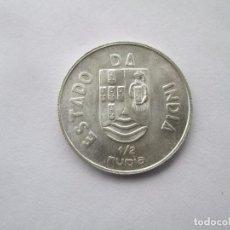 Monedas antiguas de Asia: INDIA PORTUGESA * 1/2 RUPIA 1936 * PLATA. Lote 114712899