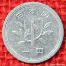 Monedas antiguas de Asia: JAPÓN 1 YEN, 1990-2015. Lote 115445171