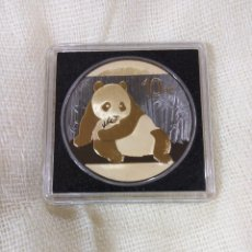 Monedas antiguas de Asia: 1 ONZA DE PLATA EDIC. LIMITADA GOLDEN ENIGMA. BAÑADA EN ORO DE 24 KILATES CON RUTENIO. 10 YUAN CHINA. Lote 115504279