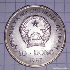 Monedas antiguas de Asia: VIETNAM. 10 DONG 1987.. Lote 117351995