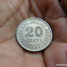 Monedas antiguas de Asia: BORNEO-BRITANICO 20 CTMOS. 1961. Lote 118098059