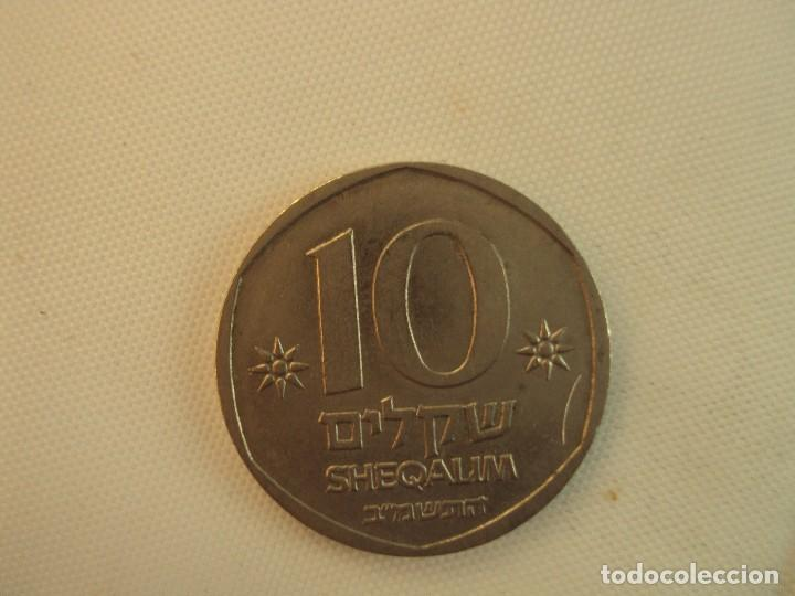 Monedas antiguas de Asia: moneda israel. 10 sheqalim de 1984 - Foto 2 - 119291055