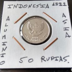 Monedas antiguas de Asia: MONEDA 50 RUPIAS DE INDONESIA 1999 SIN CIRCULAR ENCARTONADA. Lote 119463954