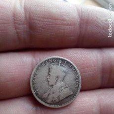 Monedas antiguas de Asia: INDIA BRITANICA 1/4 RUPEE - RUPIA SILVER - PLATA DE 1914 JORGE V ESCASA. Lote 119484075