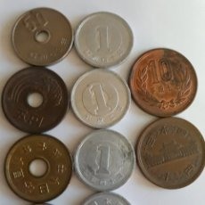 Monedas antiguas de Asia: 10 MONEDAS DE JAPÓN. Lote 120551679