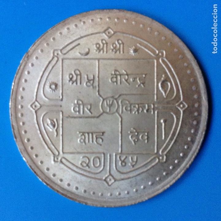 Monedas antiguas de Asia: NEPAL 250 RUPIAS (RUPEE) PLATA 1988 CONM. 25 ANIV. CRUZ ROJA EN NEPAL RARA - Foto 2 - 137549813