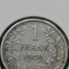 Monedas antiguas de Asia: MONEDA PLATA 1909 UN FRANCO BÉLGICA. . Lote 121577787